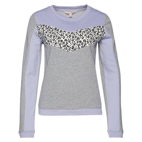 Tom Tailor Denim Sweatshirt »sweater Met Inzetstuk Met Dierenprint«