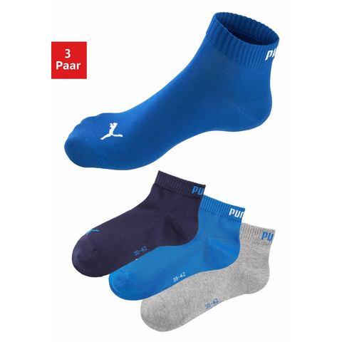 Dames Korte sokken, set van 3 paar, PUMA Puma multicolor Sportkleding