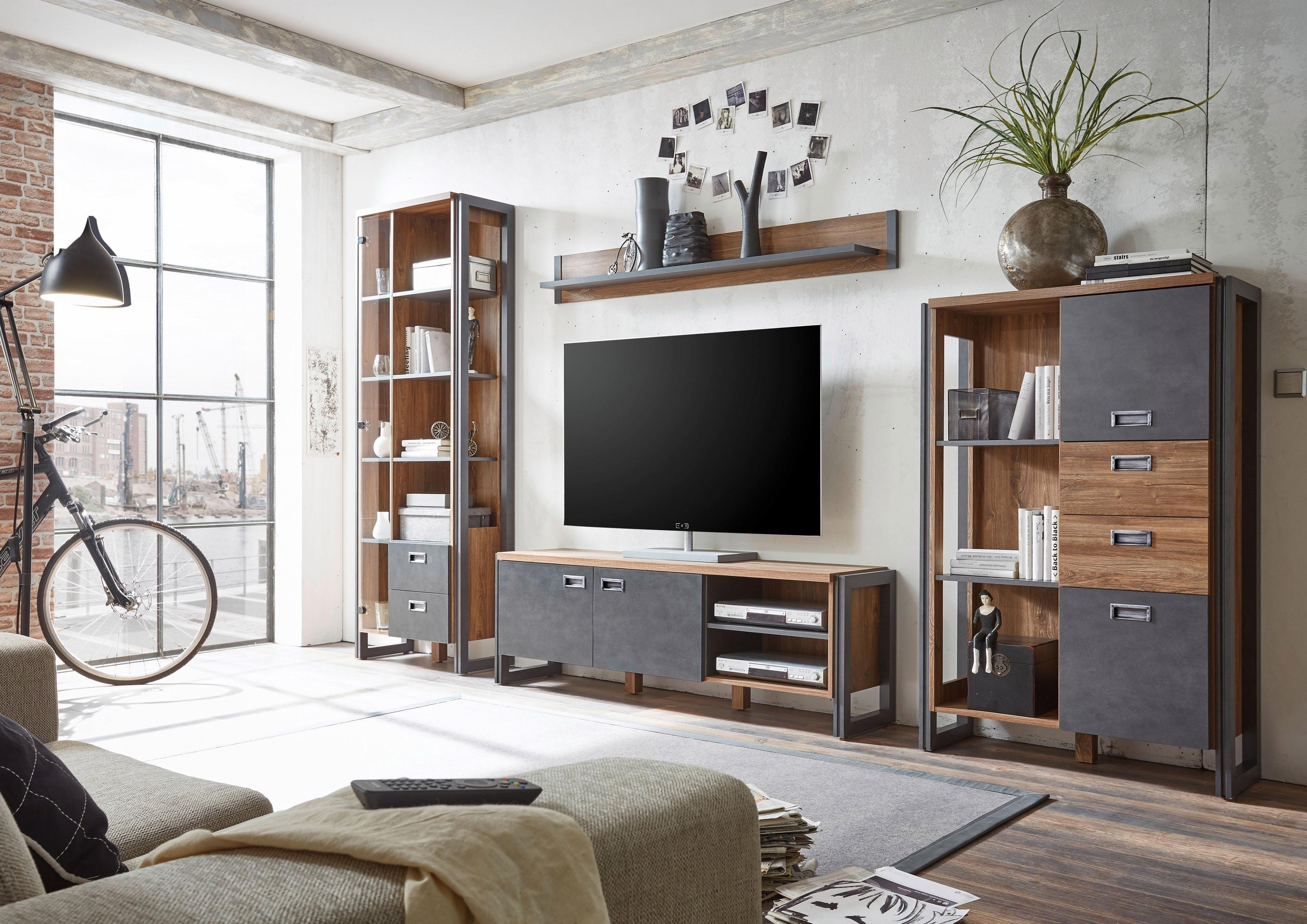 Trendy Tv Kast.Home Affaire 4 Dlg Wandmeubel Detroit Set 4 In Trendy