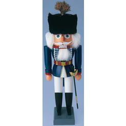 albin preissler, notenkraker husar, hoogte 26 cm blauw