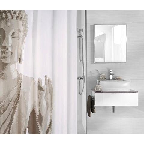 Badkameraccessoires Douchegordijn Buddha 500064 grijs