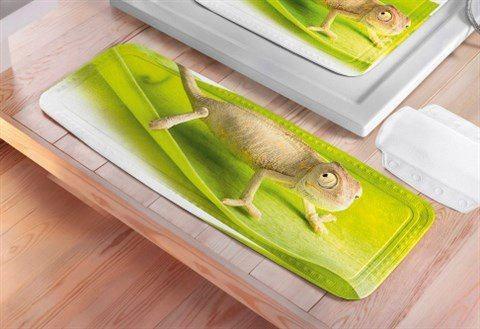 Badkameraccessoires Badkuipmat Kameleon 843793 groen