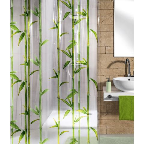 Badkameraccessoires Douchegordijn Bamboo 539635 groen