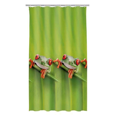 Badkameraccessoires Douchegordijn Frog 822211 groen