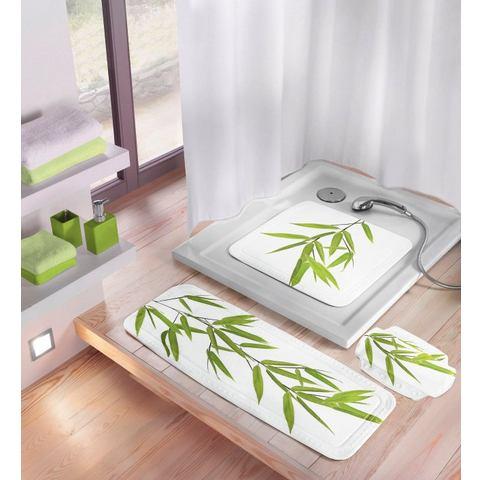 Badkameraccessoires Douchebakmat Bamboo 707321 groen
