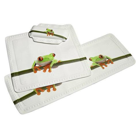 Badkameraccessoires Badkuipmat Frog 612035 groen