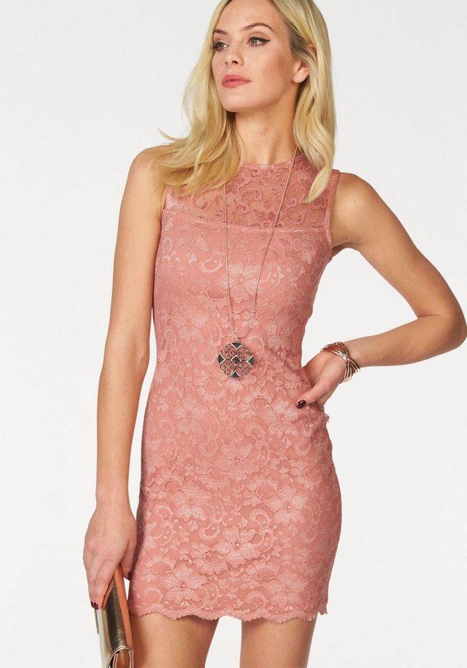 Melrose kanten jurk roze