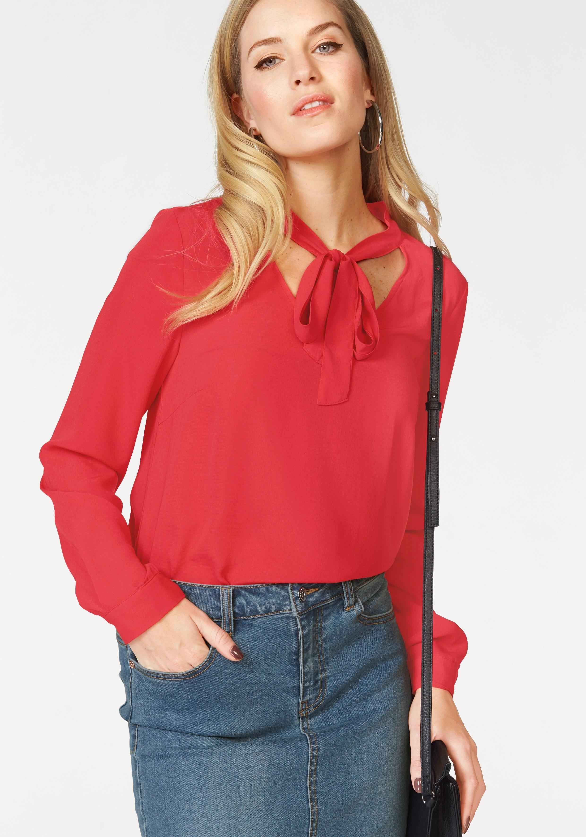 Op zoek naar een VERO MODA blouse met kraagstrik »CARO«? Koop online bij OTTO