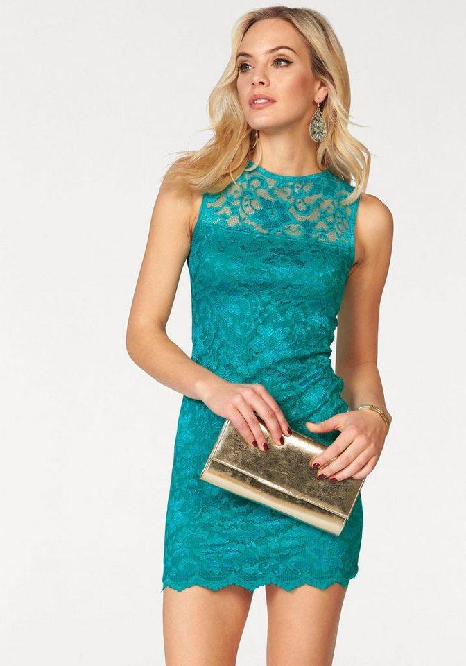 Melrose kanten jurk groen