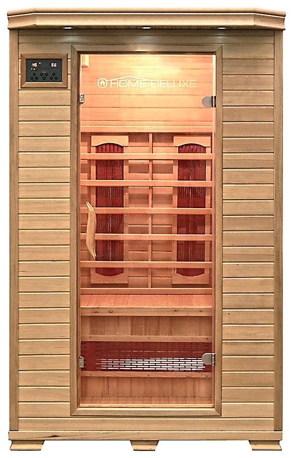 home deluxe infraroodcabine redsun m 120x105x190 cm 40 mm voor maximaal 2 personen online. Black Bedroom Furniture Sets. Home Design Ideas