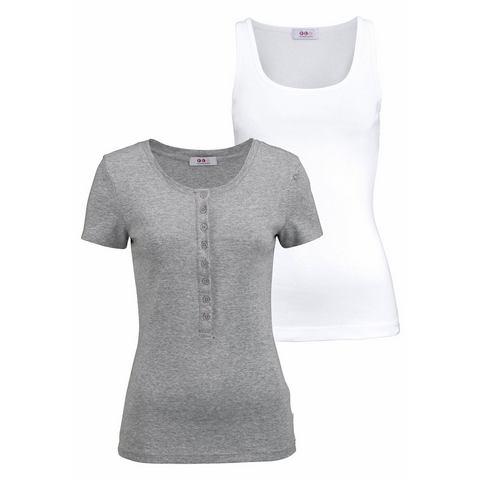 Flashlights tanktop + shirt, 2-delige set