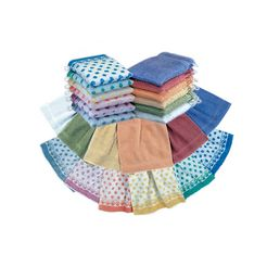 washandje, ross, set van 6 multicolor