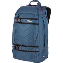 nitro rugzak met laptopvak, »aerial blue steel« blauw