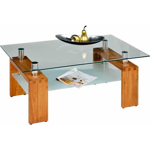 INOSIGN salontafel met massief houten frame