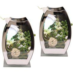 delavita kunstplant led-calla (set, 2 stuks) wit