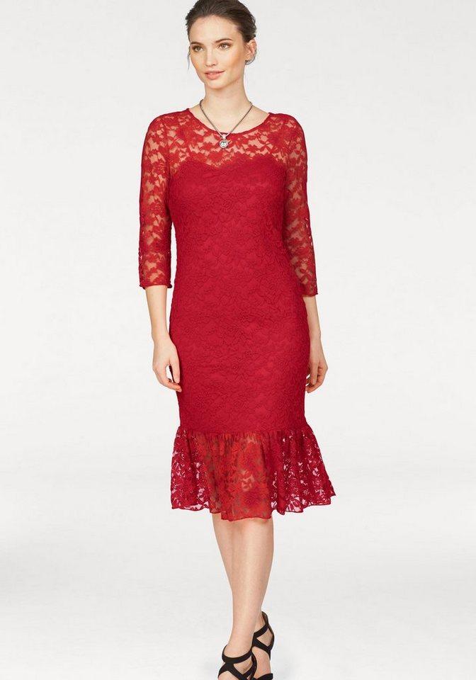 Laura Scott kanten jurk rood