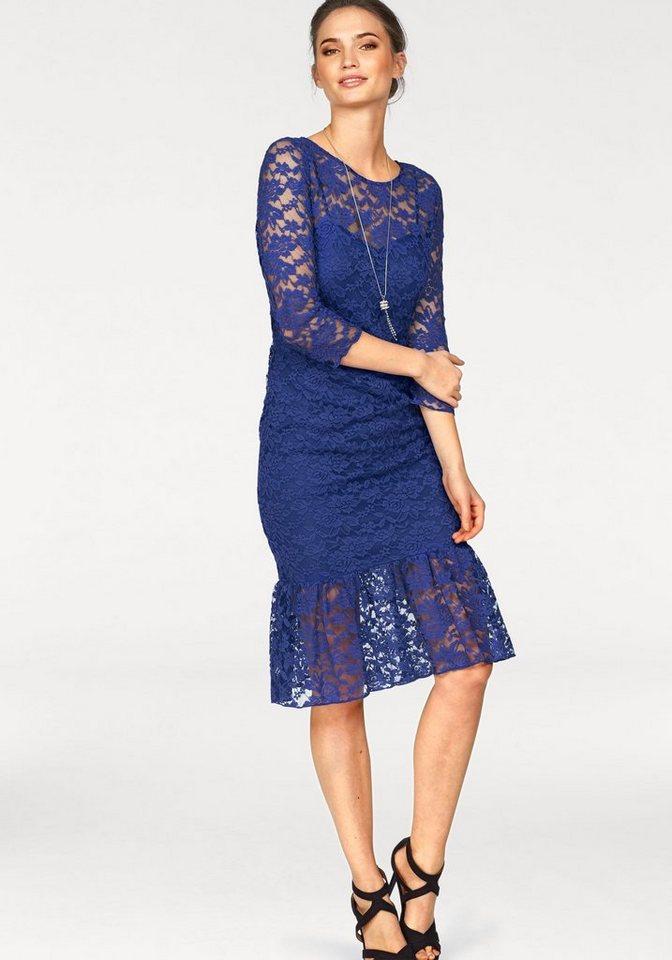 Laura Scott kanten jurk blauw