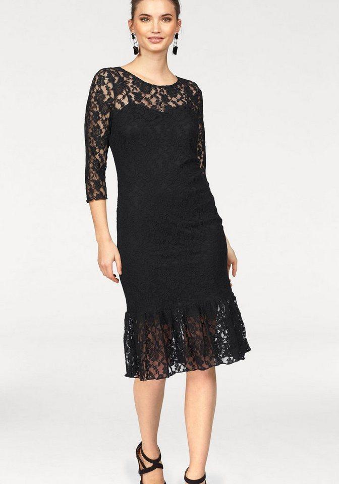 Laura Scott kanten jurk zwart