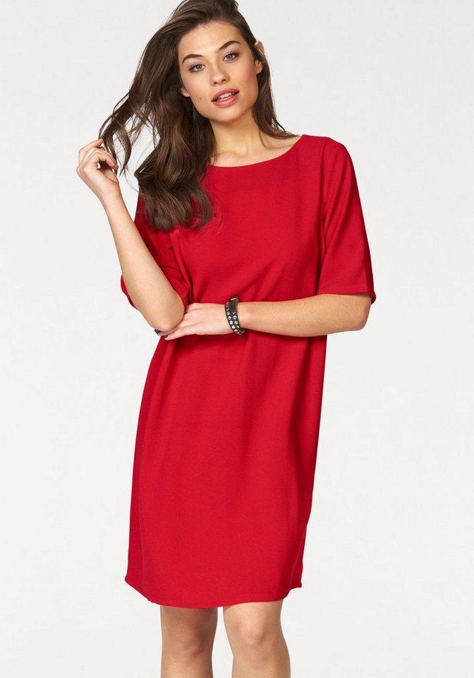 ONLY geweven jurk GROOVE rood