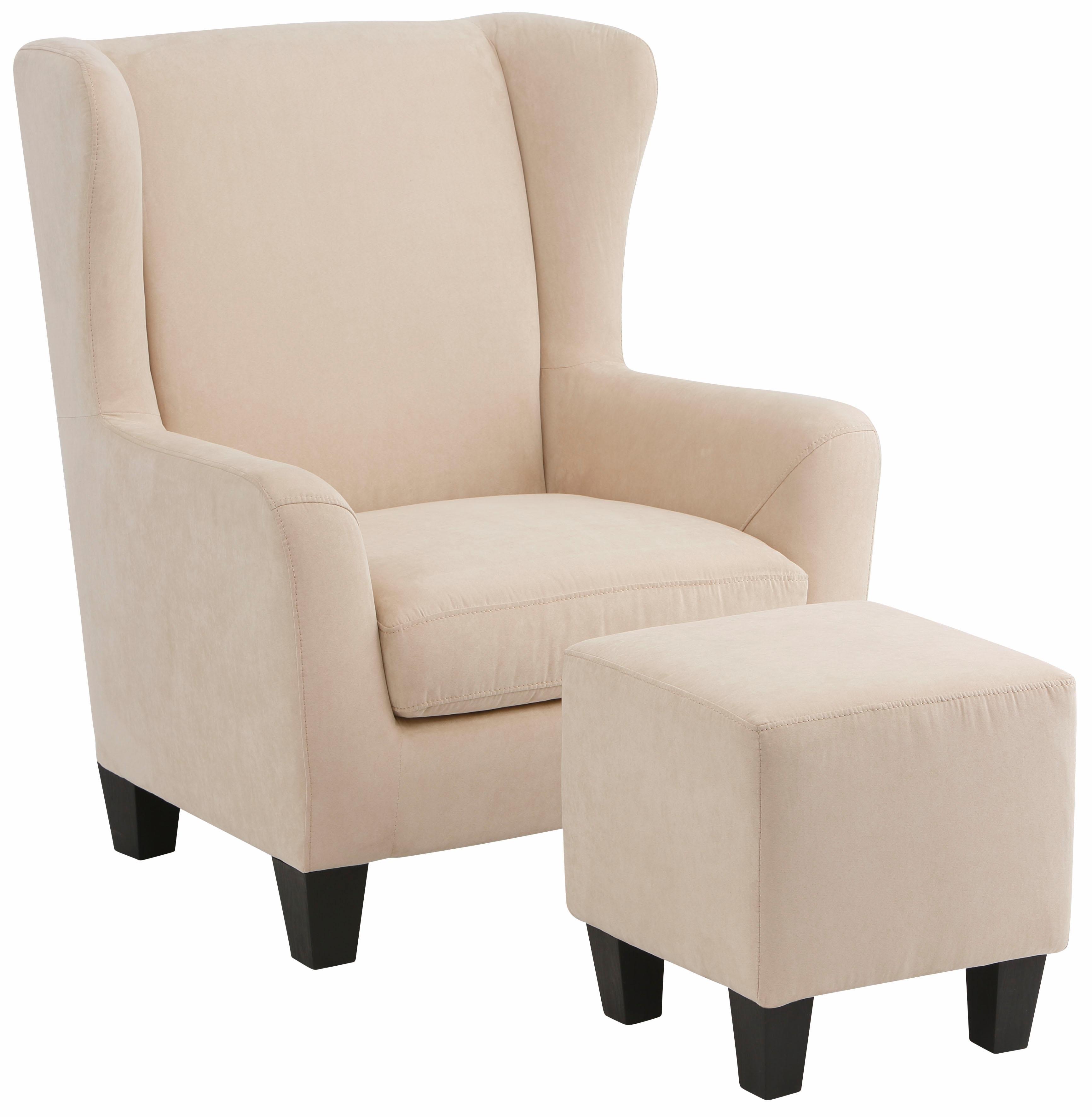 Home affaire fauteuil »Chilly« (Set, 2-tlg., bestehend aus Sessel und Hocker) in de webshop van OTTO kopen