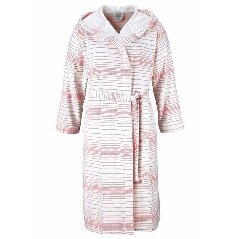 My Home Selection NU 15% KORTING: Uniseks-badjas, MY HOME SELECTION, Zoe, met stijlvolle strepen