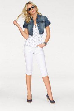 arizona jeansjack in extra kort model blauw
