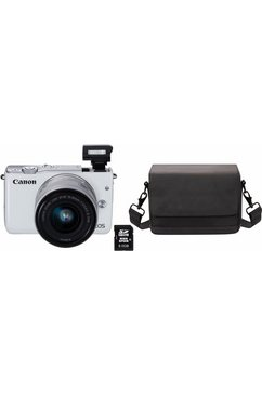 EOS M10 Kit systeemcamera, EF-M 15-45 mm 1:3,5-6,3 IS STM zoom, incl. tas & 8 GB SD-kaart