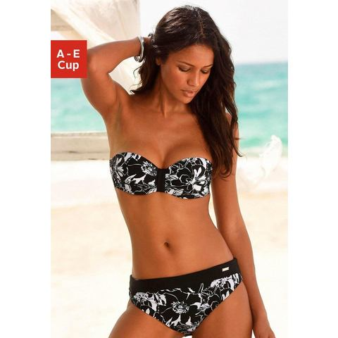 LASCANA bikinitop met beugels, in bandeaumodel, Flower