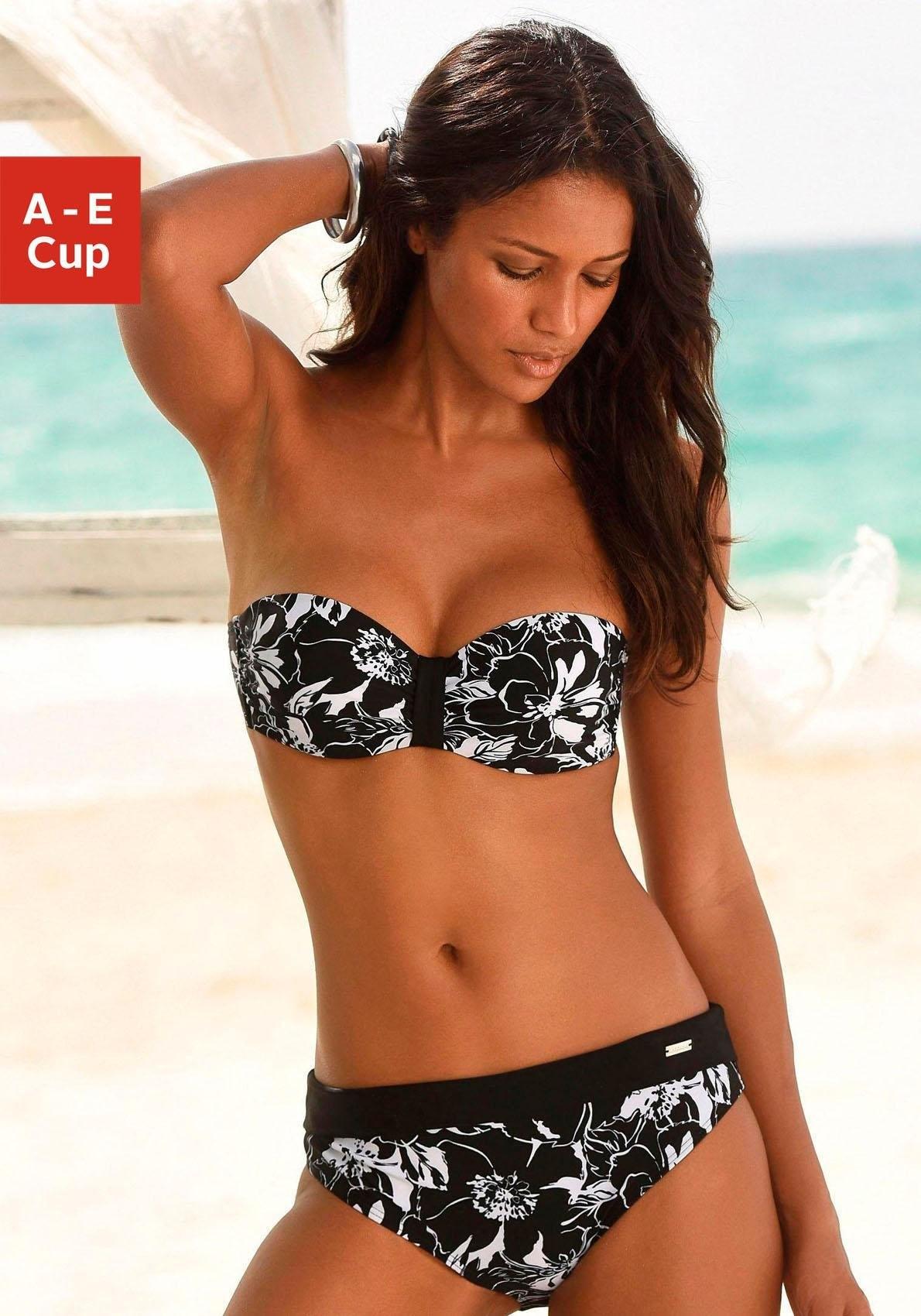 LASCANA bikinitop met beugels, in bandeaumodel, »Flower« veilig op otto.nl kopen
