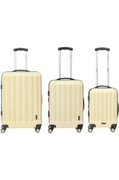 packenger harde trolleyset met 4 wieltjes, »velvet« (3-dlg.) bruin