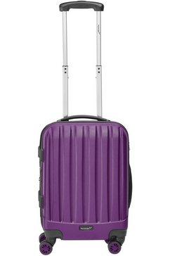 packenger harde trolley met 4 wieltjes, »velvet« paars