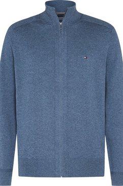 tommy hilfiger vest »pima cotton cashmere zip through« grijs