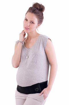 anita maternity buikgordel »baby sherpa« ook over de kleding te dragen zwart