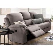 atlantic home collection 3-zitsbank met relaxfunctie en veerkern grijs