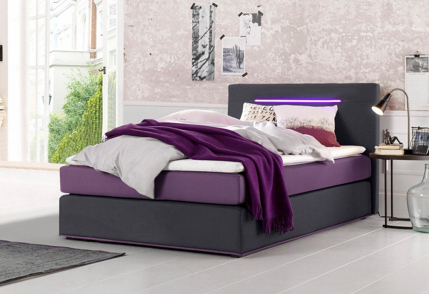 Collection AB boxspring inclusief LED-verlichting en topmatras