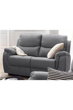 atlantic home collection 2-zitsbank met relaxfunctie en veerkern grijs