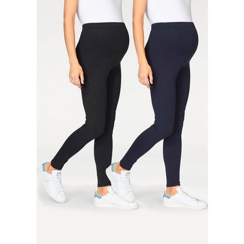 NEUN MONATE Zwangerschaps-legging in set van 2