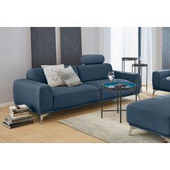 gmk home  living 3-zitsbank bank »tea«, met hoofdsteun blauw