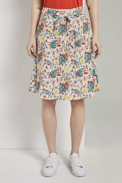 tom tailor zomerrok rok met tropische print en bindceintuur wit