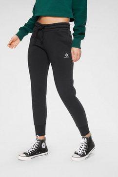 converse joggingbroek womens embroidered star chevron pant bb zwart