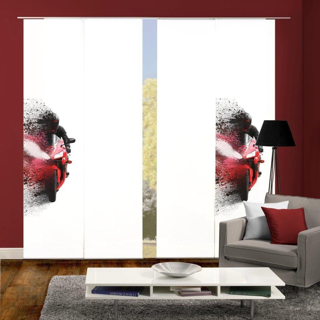 HOME WOHNIDEEN Paneelgordijn AKIDO 4er SET Gordijnstof in zijde-look, digitaal bedrukt (4 stuks) online kopen op otto.nl