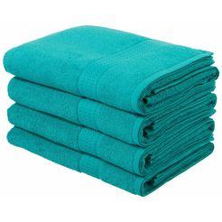 badlaken, my home, »juna«, 4-delige set blauw