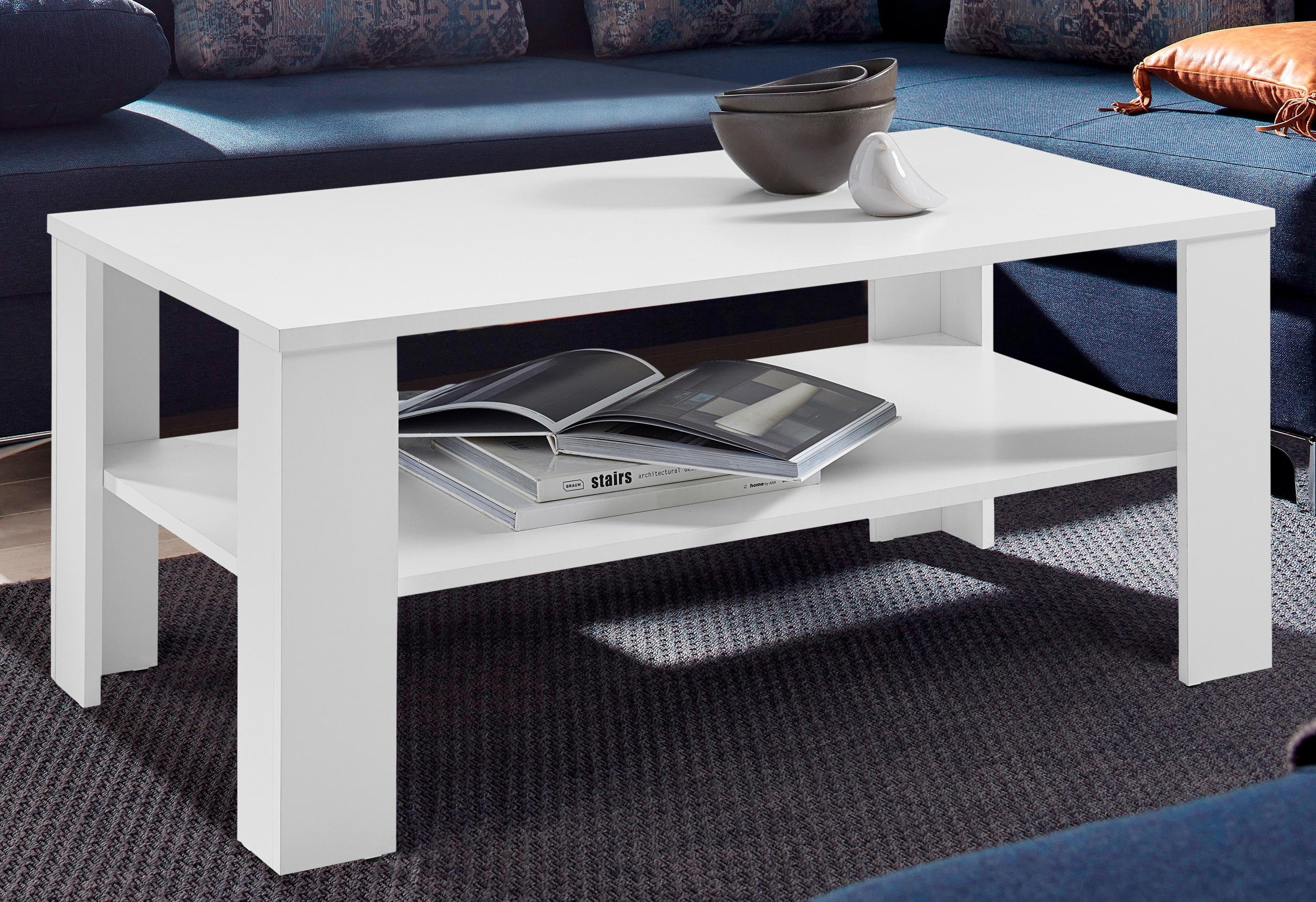 Salon Tafel Wit : Salontafel met praktische plank koop je bij otto