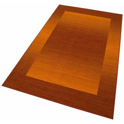 theko vloerkleed gabbeh ideal met randdessin, woonkamer rood