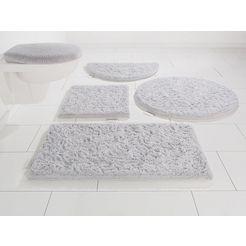 badmat »jari«, guido maria kretschmer homeliving, hoogte 30 mm, met antislip-coating zilver