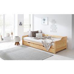home affaire slaapbank tim met uittrekbare lade voor extra matras als logeerbed beige