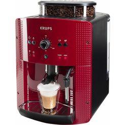 krups volautomatisch espresso-koffiezetapparaat ea8107, rood rood