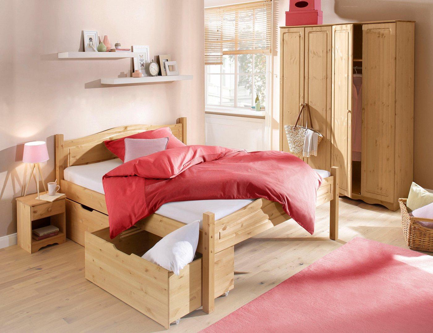 HOME AFFAIRE slaapkamerserie Emden (4-dlg.), met 4-deurs garderobekast