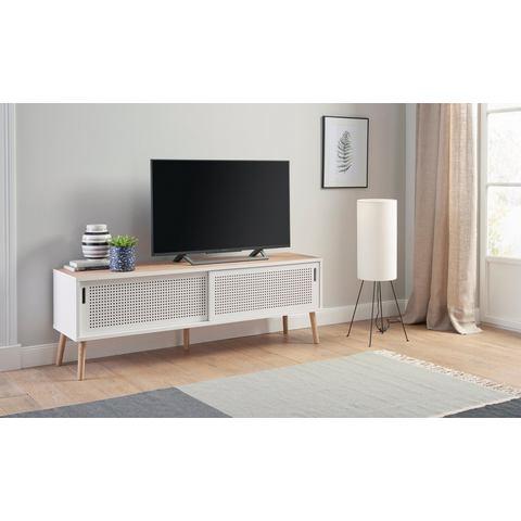 andas tv-meubel Scala, breedte 158 cm, met 2 schuifdeuren en natuurkurken bovenblad