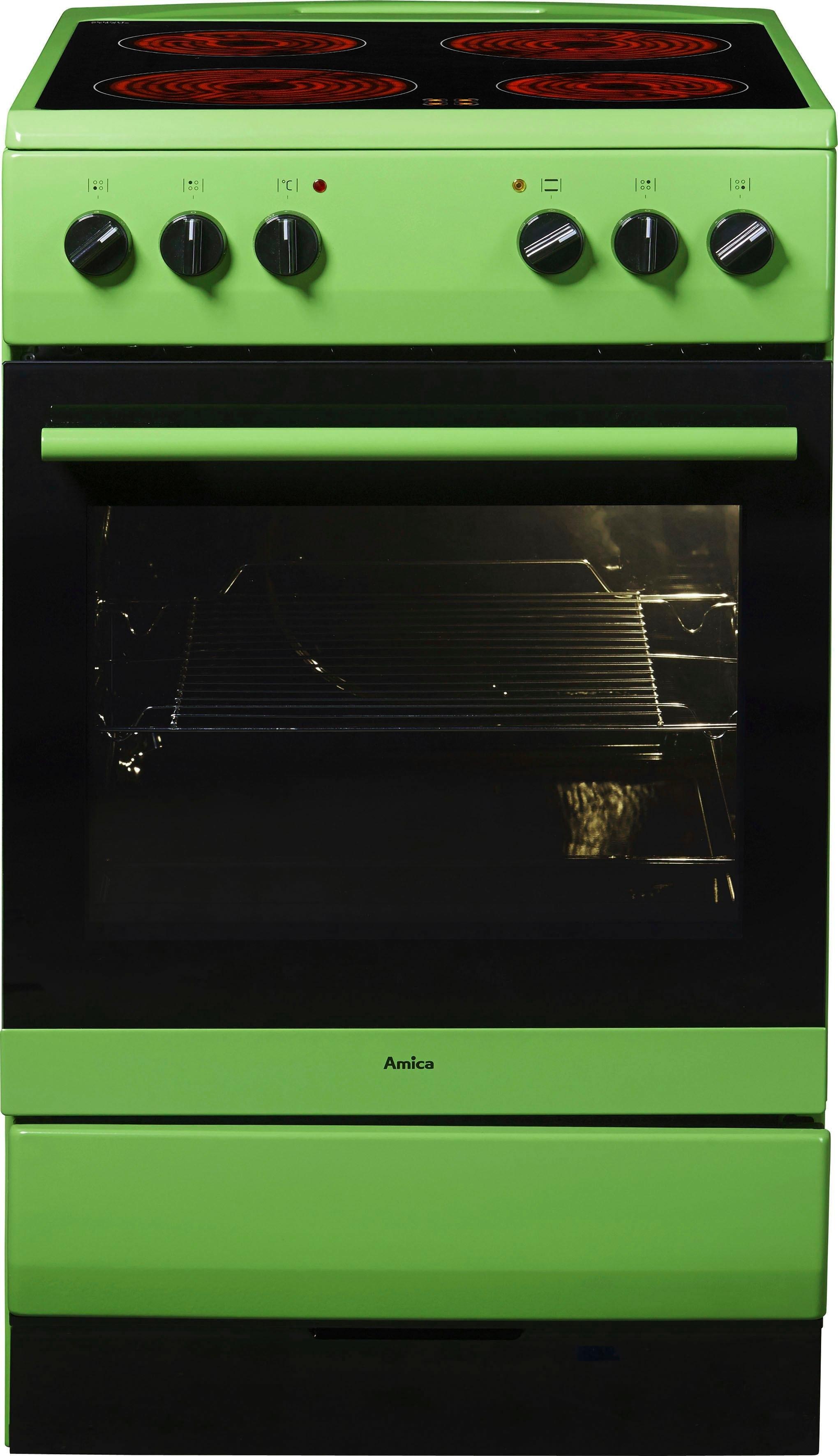 Amica fornuis SHC 11508 G, energieklasse A, groen goedkoop op otto.nl kopen